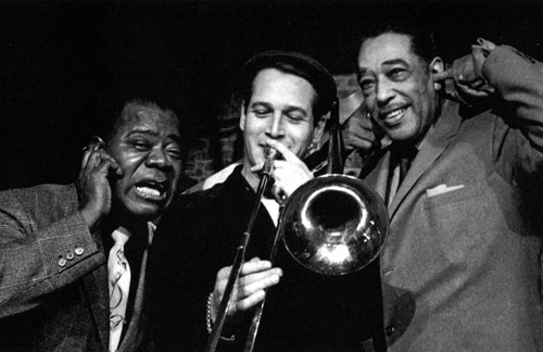 Louis-Armstrong-Paul-Newman-and-Duke-Ellington-on-the-set-of-Paris-Blues